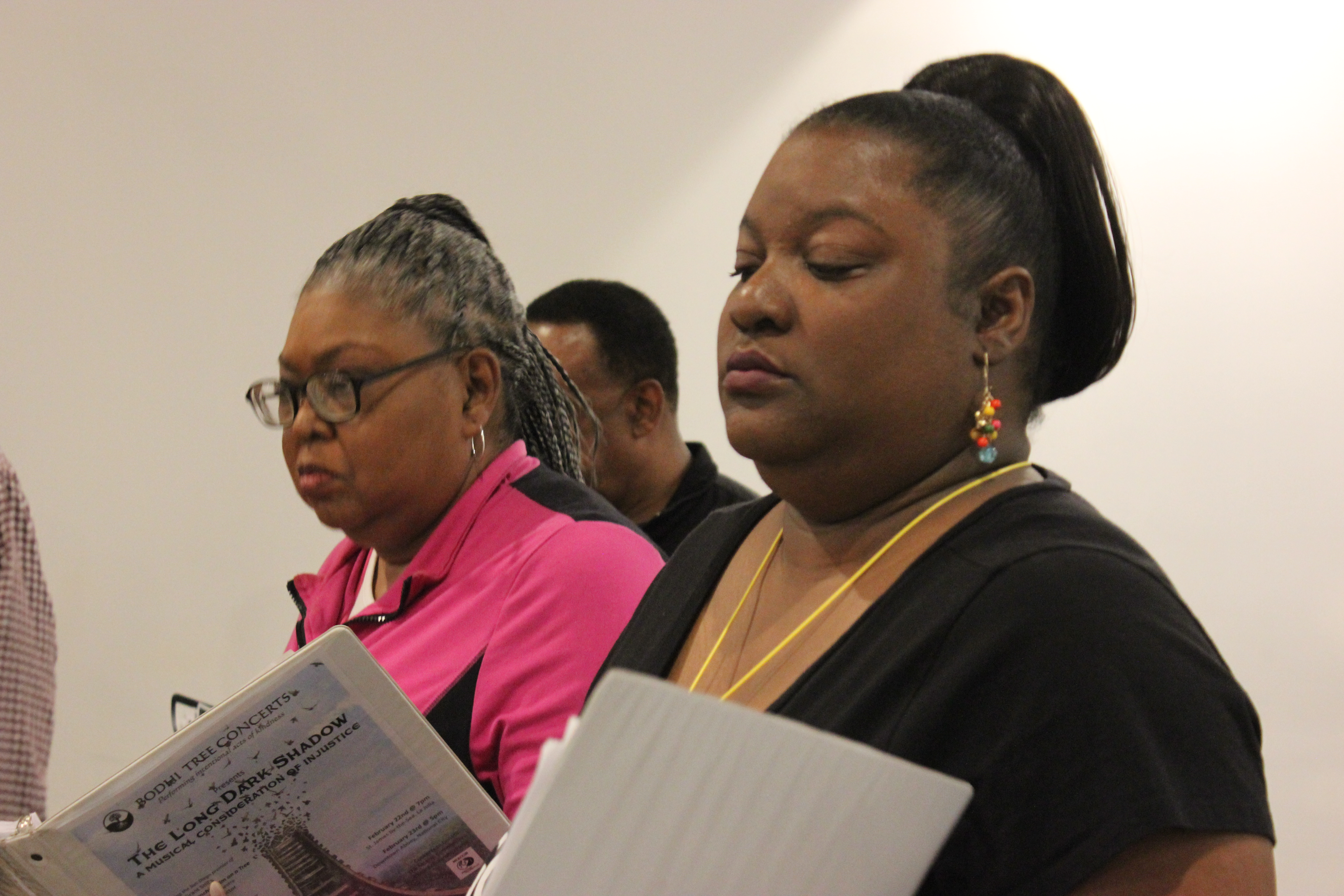 Choir Members in rehearsal