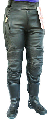 SOLO  REGULAR LEG ladies leather motorcycle trousers
