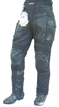 COMBINATION  Cordura & leather motorcycle trousers