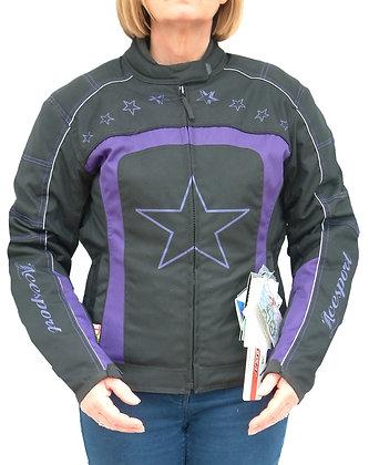 LADIES PURPLE or PINK STAR cordura jacket