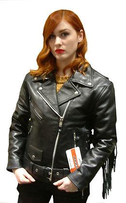TASSEL PATROL ladies leather motorcycle jacket