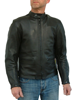RICO casual look mens leather motorcycle jacket
