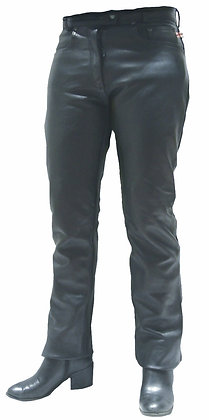 STRAIGHT CUT Ladies Leather Jeans
