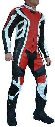 SYCO one-piece leather racing suit SALE was £350 red, blue or all black