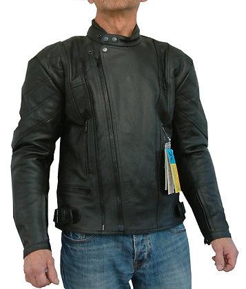HORNET mens leather motorcycle jacket