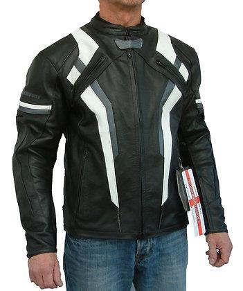 REVSTAR mens leather sports motorcycle jacket