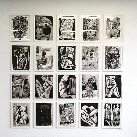 Series of 20 drawings of_30 X 40 cm_Ink