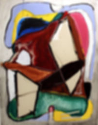 Meat grinder_160 X 180 cm_Acrylic on can