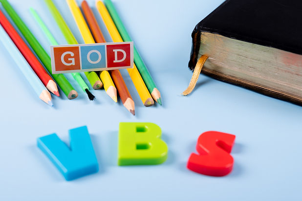 Church background with Abbreviation _VBS