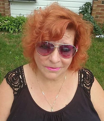 Senior citizen with cut and color makeover