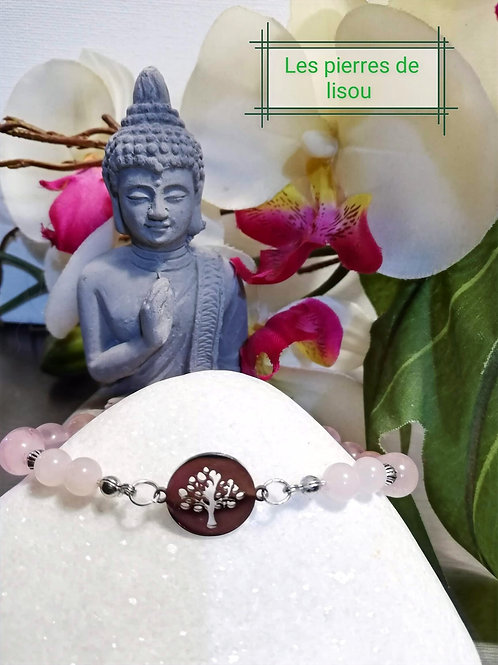 bracelet connecteur médaillon arbres