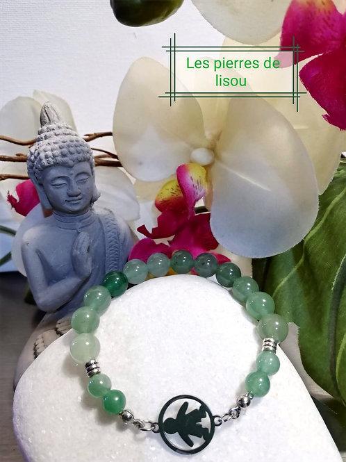 bracelet petit garçon aventurine verte
