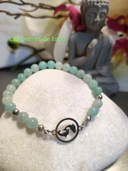 bracelet connecteur médaillon dauphin