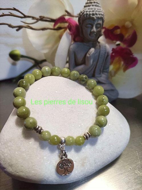 bracelet pendentif arbre médaillon