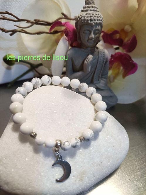 bracelet pendentif lune