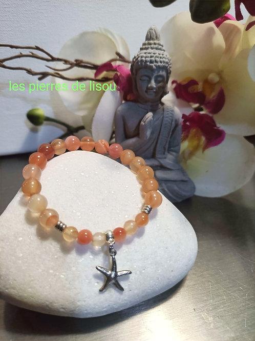 bracelet pendentif étoile de mer