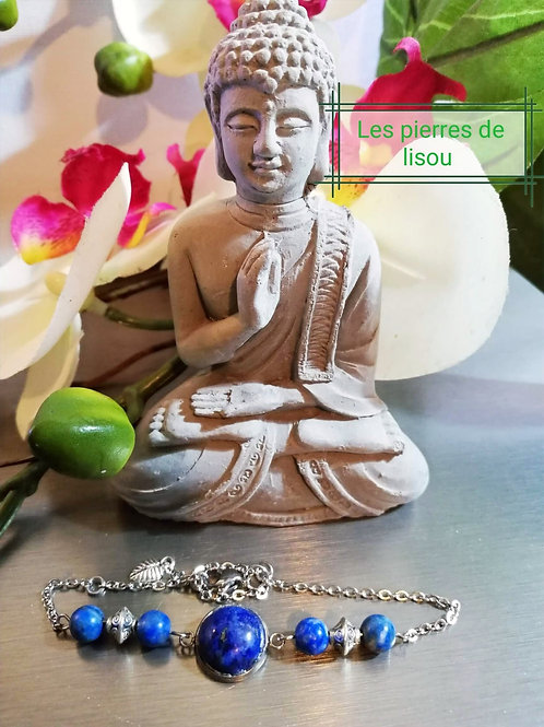 bracelet lapi lazuli cabochon