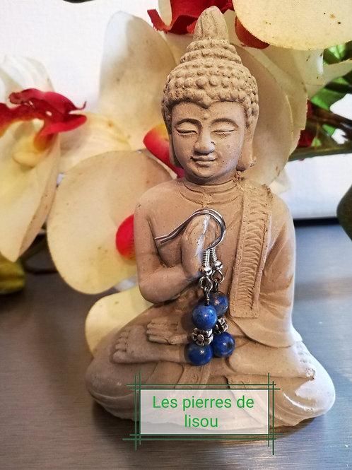 Boucle d oreille lapi lazuli