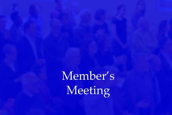 Online Members Meeting