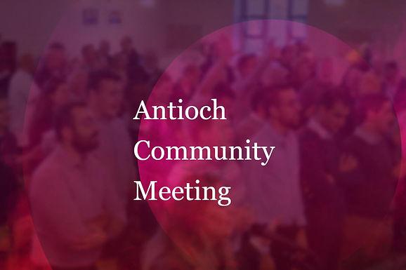Community Meeting - Late Oct