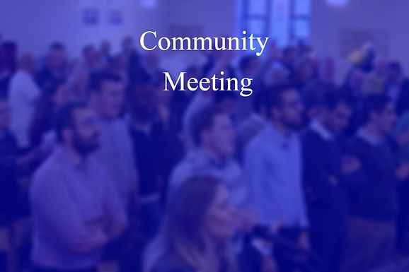 Community Meeting - Late March