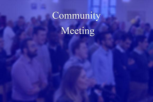 Community Meeting Nov 2020