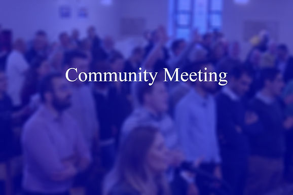 Community Meeting - Late June