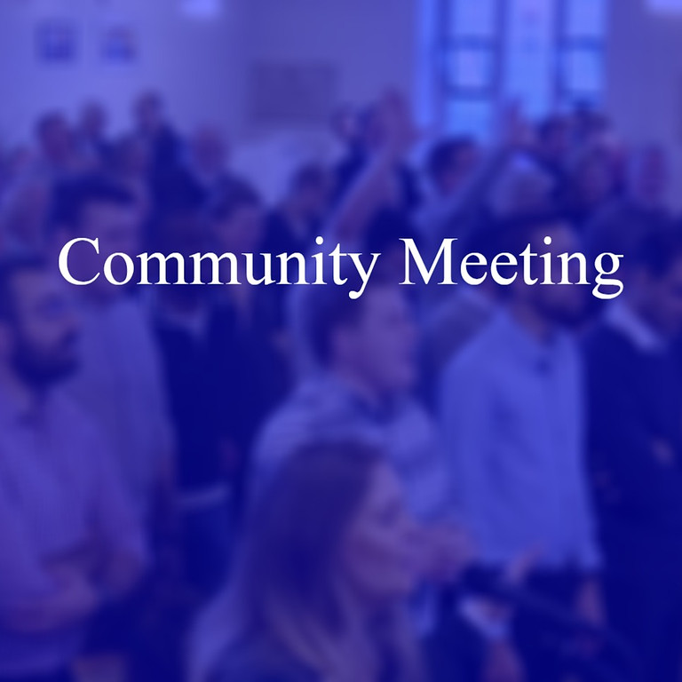 Community Meeting - Early July