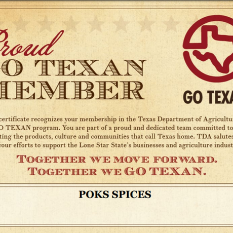Go Texan Certification