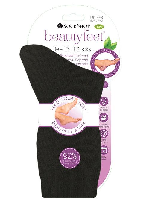 Ladies Beautyfeet Nourishing Heel Pad Socks