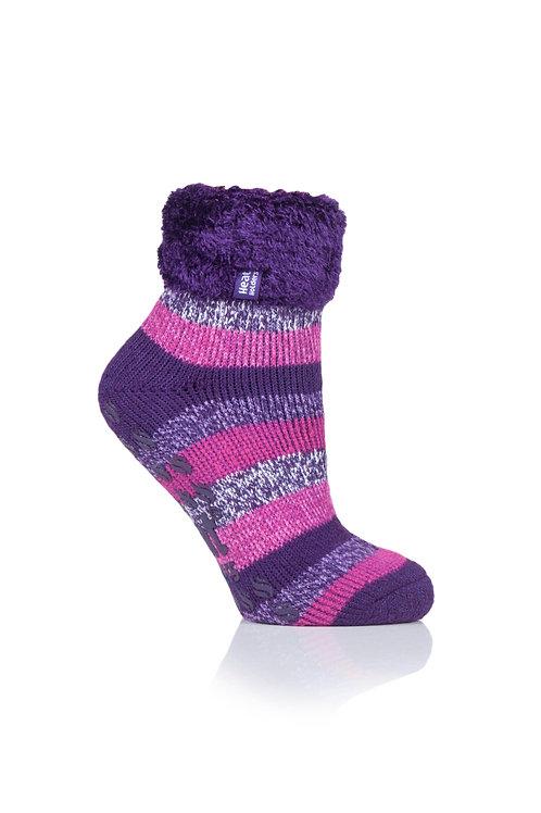 Ladies Heat Holders Stripe Lounge Sock