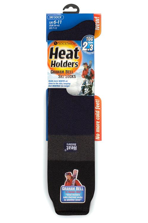 Mens Ski Heat Holders - Black/Charcoal/Navy