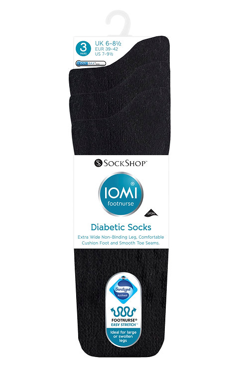 Mens IOMI Footnurse Diabetic 3Pack
