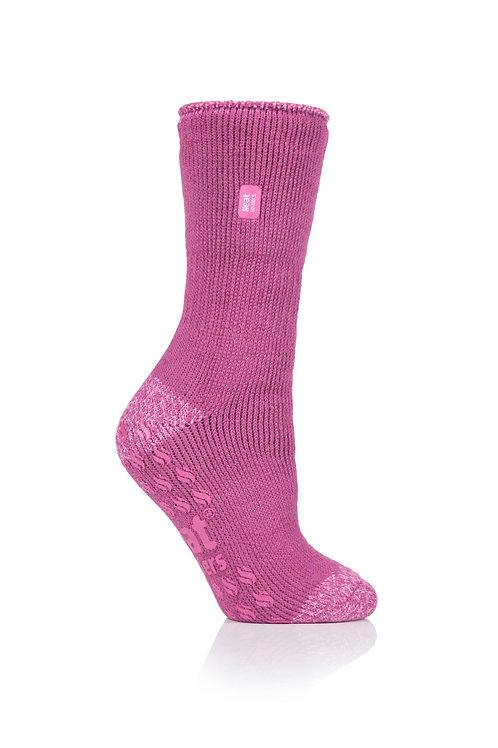 Ladies Slipper Heat Holders - Juniper Pink