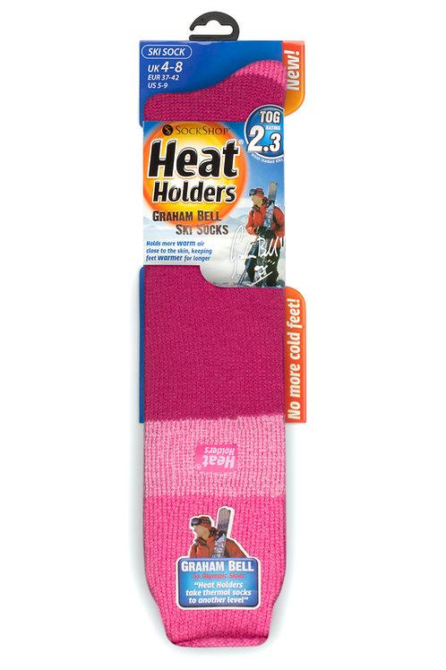 Ladies Ski Heat Holders - Pink/Light Pink/Raspberry