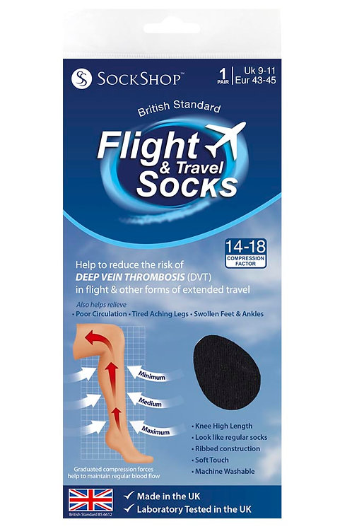 Mens Flight & Travel Socks