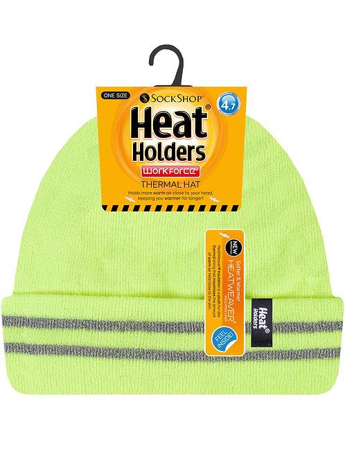 Mens Workforce Hi-Vis Heat Holder Hat