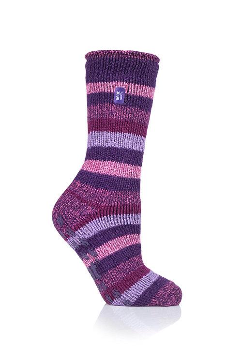 Ladies Slipper Heat Holders -Petunia Purple