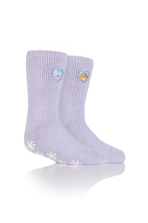 Kids Heat Holders Frozen Princess Slipper Sock
