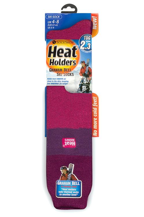 Ladies Ski Heat Holders - Fuchsia/Purple/Raspberry