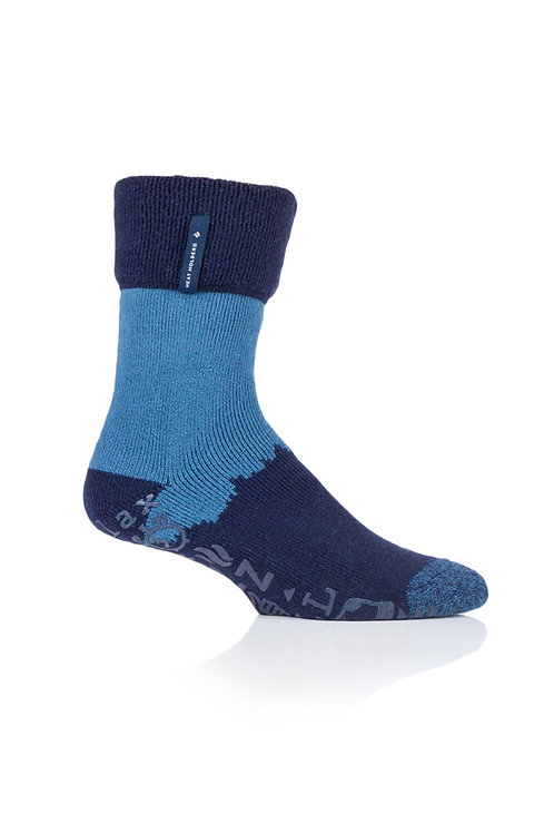 Mens Lounge Sock with Non Slip Grip - Robin