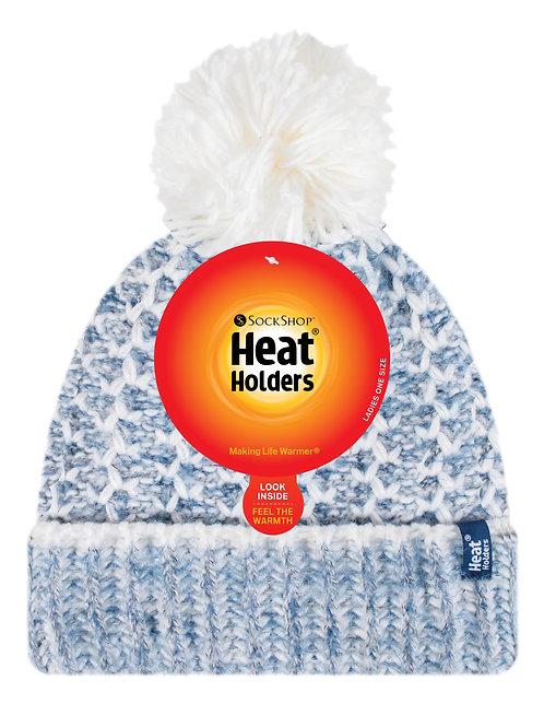 Ladies Heat Holders Heat Weaver Lund Pom Pom Hat