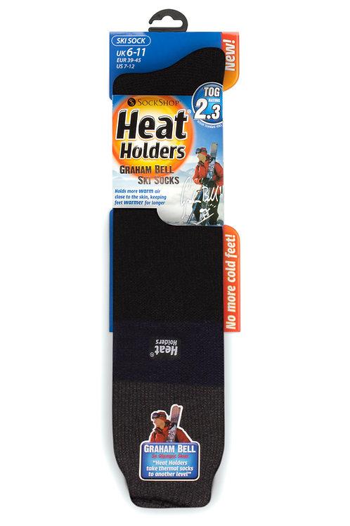 Mens Ski Heat Holders - Charcoal/Navy/Black
