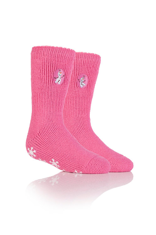 Kids Heat Holders Frozen Olaf Slipper Sock