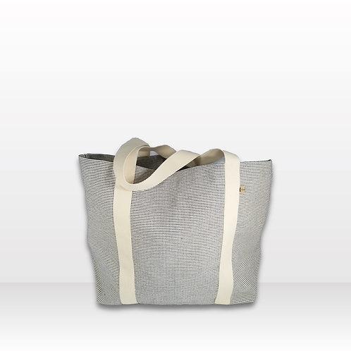 Beach Bag Blue & White