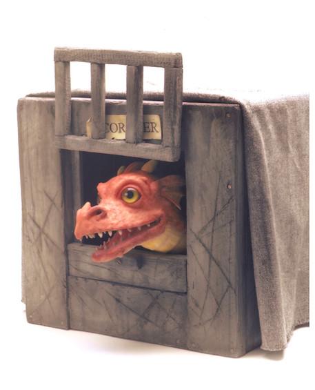 Scorcher Dragon Puppet and box