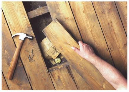 Set Of Wooden floor with hidden Treasures
