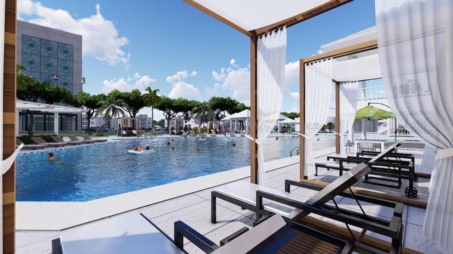 perspectiva de piscina