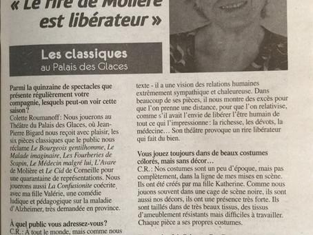 """""""Le rire de Molière est libérateur"""""""