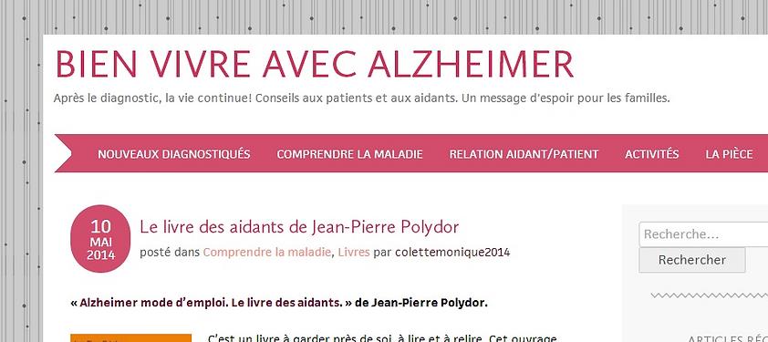 site d'aide et de conseils pour mieux vivre au quotidien la malade d'alzheimer